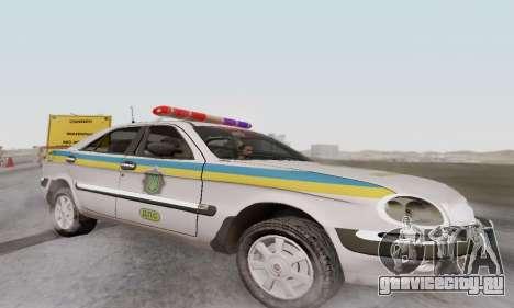 ГАЗ 3111 Мiлiцiя Украины для GTA San Andreas вид слева