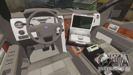 Ford F-150 2012 CEPS [ELS] для GTA 4 вид изнутри