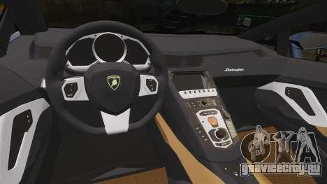 Lamborghini Aventador LP720-4 50th Anniversario для GTA 4 вид изнутри