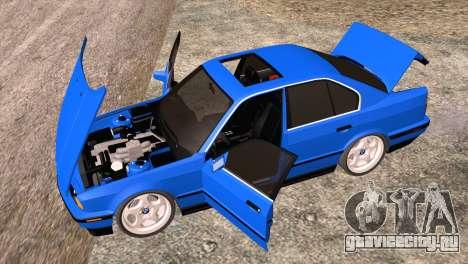 BMW 535i E34 Mafia Style для GTA San Andreas вид изнутри