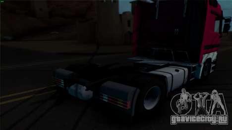 Mercedes-Benz 1840 для GTA San Andreas вид изнутри