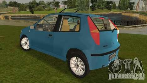 Fiat Punto II для GTA Vice City вид сзади слева
