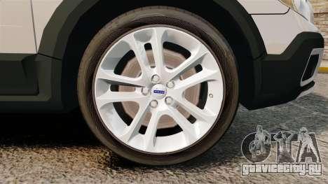 Volvo XC70 Police [ELS] для GTA 4 вид сзади
