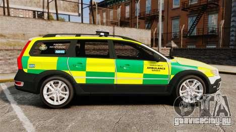 Volvo XC70 Paramedic [ELS] для GTA 4 вид слева