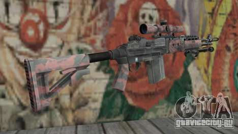 M14 EBR Red Tiger для GTA San Andreas второй скриншот