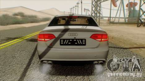 Audi S4 для GTA San Andreas вид сзади