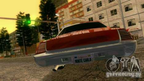 Chevy Monte Carlo Lowrider для GTA Vice City вид справа