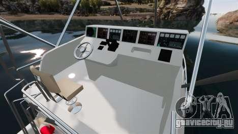 Sport fishing yacht для GTA 4 вид изнутри