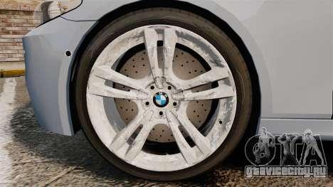 BMW M5 Unmarked Police [ELS] для GTA 4 вид сзади