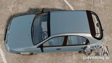 Daewoo Lanos 1997 PL для GTA 4 вид справа