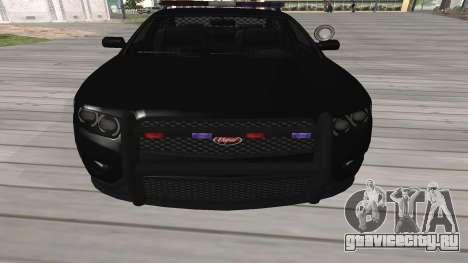 GTA V Police Cruiser для GTA San Andreas вид слева