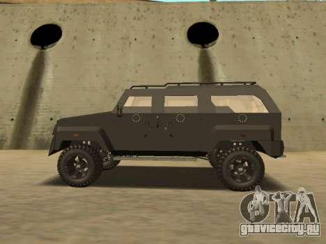 Ford Super Duty Armored для GTA San Andreas вид сзади слева