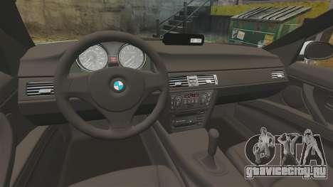 BMW 330i Unmarked Police [ELS] для GTA 4 вид сзади