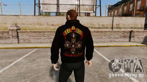 Кожаная куртка -Guns N Roses- для GTA 4 второй скриншот