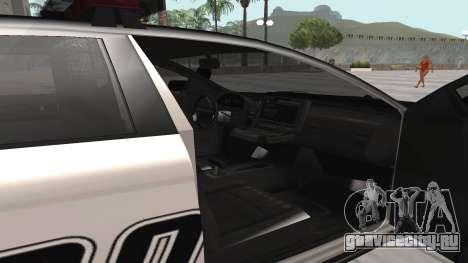 GTA V Police Cruiser для GTA San Andreas вид сзади слева