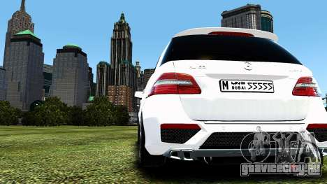 Mercedes-Benz ML63 AMG для GTA 4 вид сзади