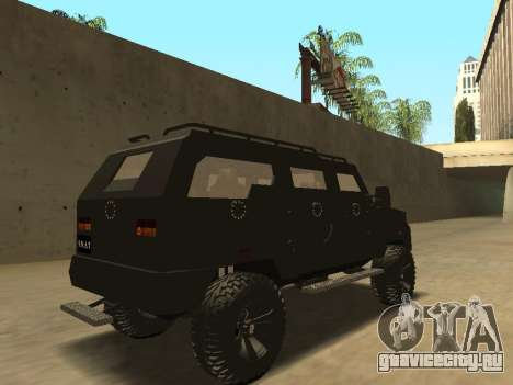 Ford Super Duty Armored для GTA San Andreas вид сзади