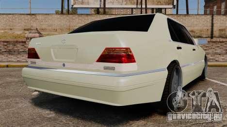 Mercedes-Benz S600 (W140) 1998 для GTA 4 вид сзади слева