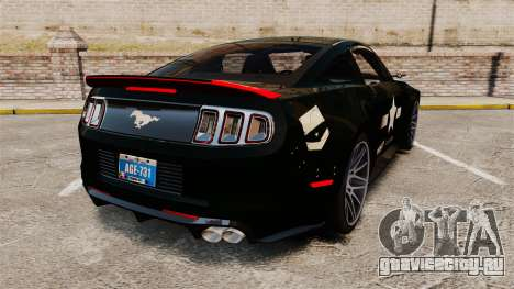 Ford Mustang GT 2013 NFS Edition для GTA 4 вид сзади слева