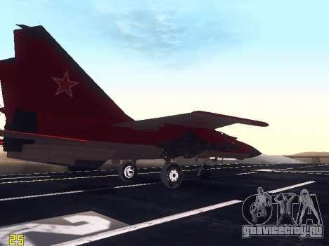 МиГ 25 для GTA San Andreas вид сбоку