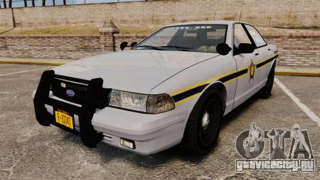 GTA V Vapid Police Cruiser Scheriff [ELS] для GTA 4