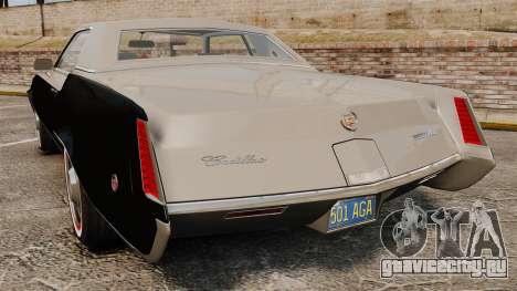Cadillac Eldorado Coupe 1969 для GTA 4 вид сзади слева