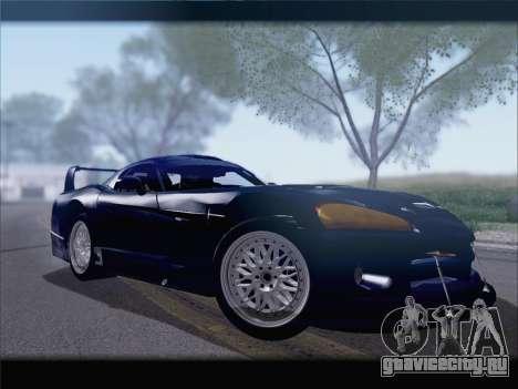 Dodge Viper Competition Coupe для GTA San Andreas вид сзади слева