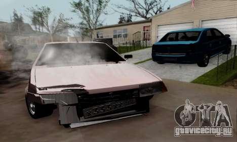ВАЗ 21099 Бродяга для GTA San Andreas вид сзади слева