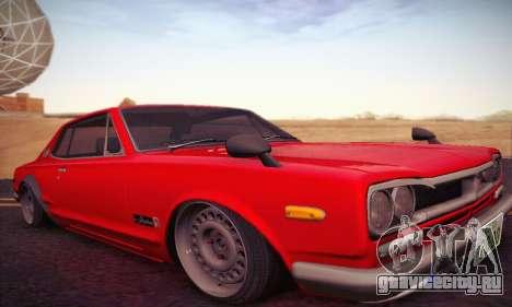 Nissan Skyline 2000GTR 1967 Hellaflush для GTA San Andreas вид слева