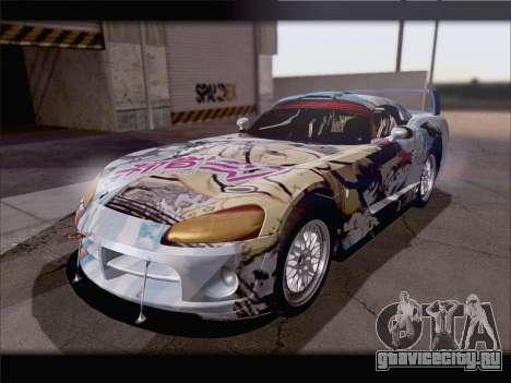 Dodge Viper Competition Coupe для GTA San Andreas вид сбоку
