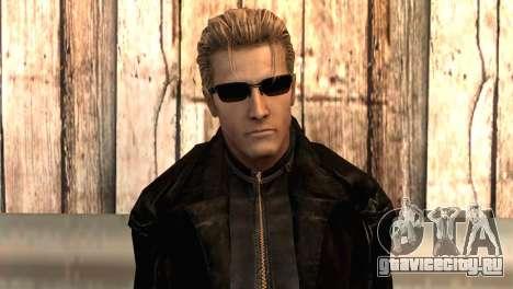 Альберт Вескер в плаще для GTA San Andreas третий скриншот