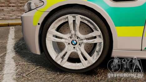 BMW M5 Ambulance [ELS] для GTA 4 вид сзади