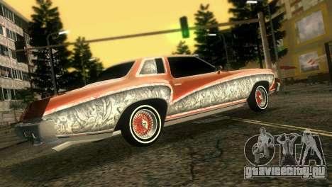 Chevy Monte Carlo Lowrider для GTA Vice City вид сзади