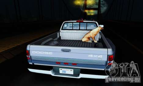 Dodge Ram 3500 для GTA San Andreas вид изнутри