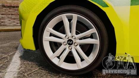 Hyundai i40 Tourer [ELS] London Ambulance для GTA 4 вид сзади