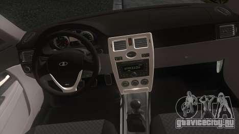 ВАЗ 2170 Приора для GTA San Andreas вид сзади