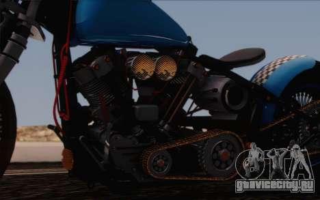 Harley-Davidson Knucklehead для GTA San Andreas вид изнутри