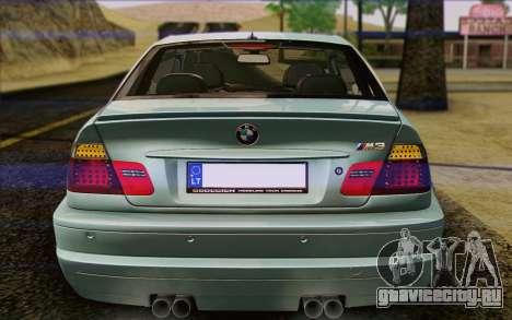 BMW M3 E46 2005 для GTA San Andreas салон