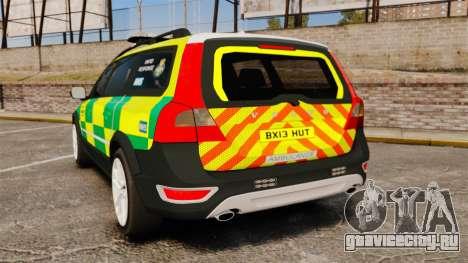 Volvo XC70 Paramedic [ELS] для GTA 4 вид сзади слева