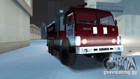 КамАЗ 43101 Пожарный для GTA Vice City