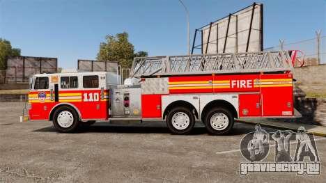 MTL Firetruck MDH1000 Midmount Ladder FDNY [ELS] для GTA 4 вид слева