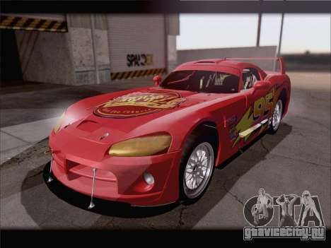 Dodge Viper Competition Coupe для GTA San Andreas вид сверху