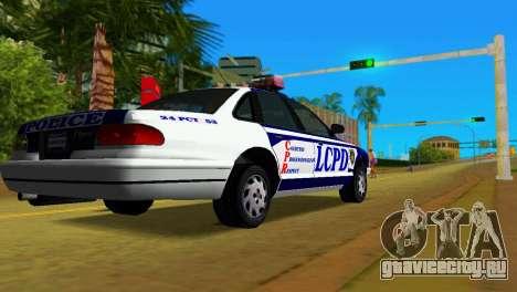 GTA IV Police Cruiser для GTA Vice City вид слева