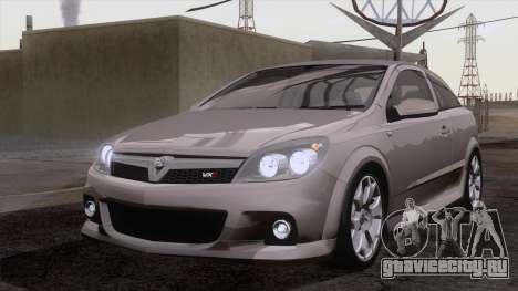 Vauxhall Astra VXR  2007 для GTA San Andreas вид изнутри