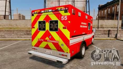 Ford E-350 LAFD Ambulance [ELS] для GTA 4 вид сзади слева