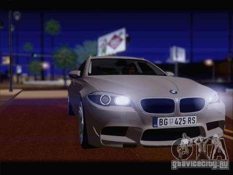 BMW M5 F11 Touring для GTA San Andreas вид сзади слева