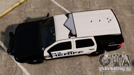 Chevrolet Tahoe 2008 Federal Signal Valor [ELS] для GTA 4 вид справа