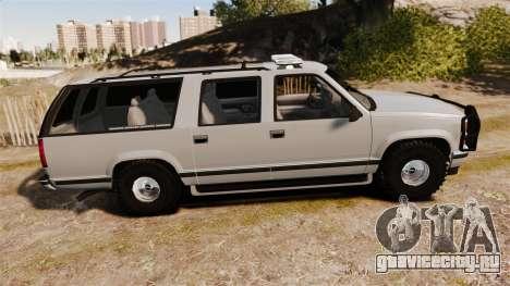 Chevrolet Suburban 1999 Police [ELS] для GTA 4 вид слева
