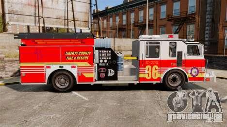 Firetruck LCFR [ELS] для GTA 4 вид слева