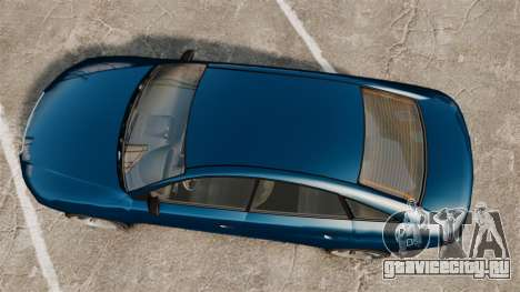 GTA V Tailgater (Michael Car) для GTA 4 вид справа